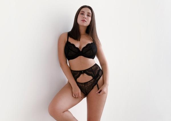 lingerie grande taille : Dentelle noire chic et glamour