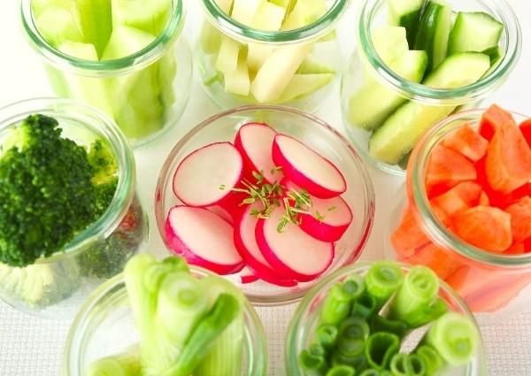 légumes brûleurs de graisse : crudités